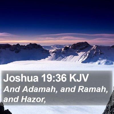 Joshua 19:36 KJV Bible Verse Image