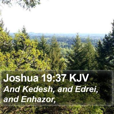 Joshua 19:37 KJV Bible Verse Image
