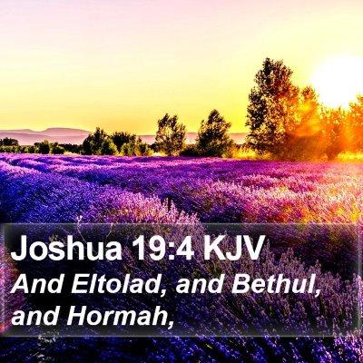 Joshua 19:4 KJV Bible Verse Image