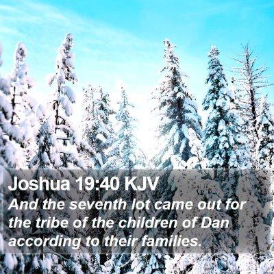 Joshua 19:40 KJV Bible Verse Image