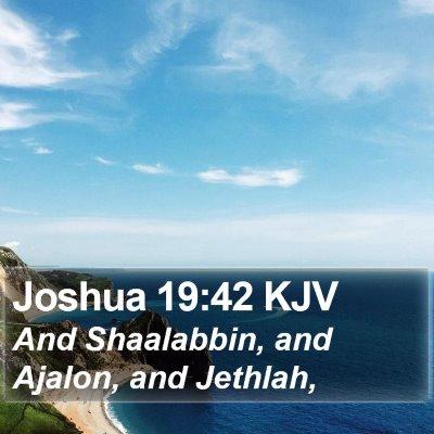 Joshua 19:42 KJV Bible Verse Image