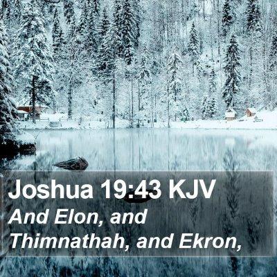 Joshua 19:43 KJV Bible Verse Image