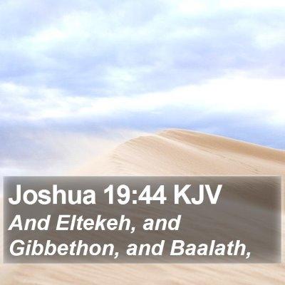 Joshua 19:44 KJV Bible Verse Image
