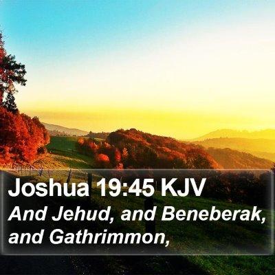 Joshua 19:45 KJV Bible Verse Image
