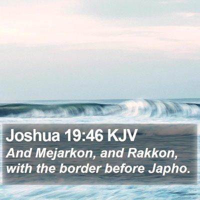 Joshua 19:46 KJV Bible Verse Image