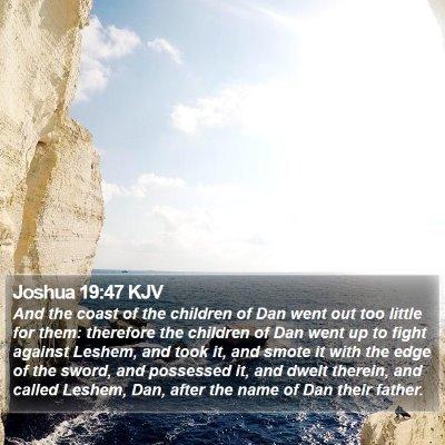 Joshua 19:47 KJV Bible Verse Image