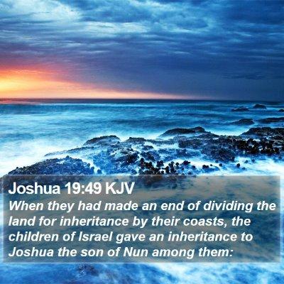 Joshua 19:49 KJV Bible Verse Image