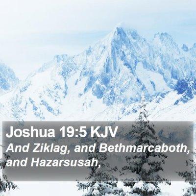 Joshua 19:5 KJV Bible Verse Image