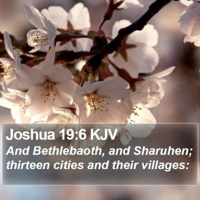 Joshua 19:6 KJV Bible Verse Image