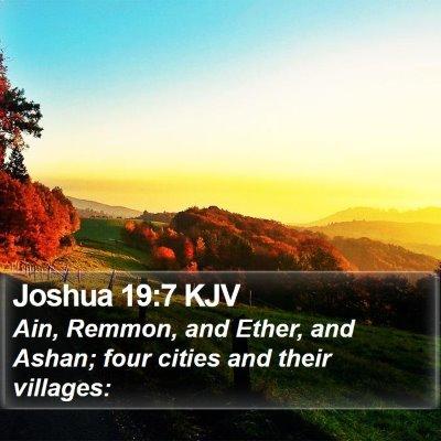 Joshua 19:7 KJV Bible Verse Image