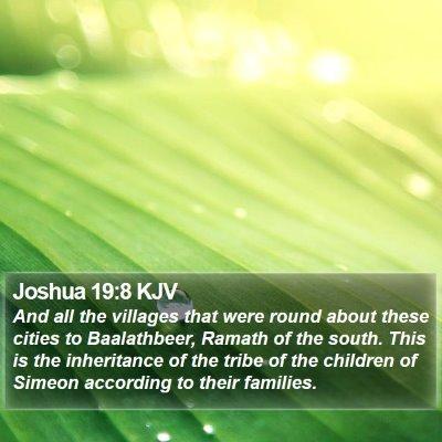 Joshua 19:8 KJV Bible Verse Image