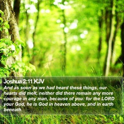 Joshua 2:11 KJV Bible Verse Image