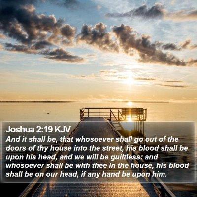 Joshua 2:19 KJV Bible Verse Image