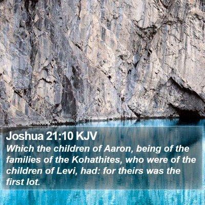 Joshua 21:10 KJV Bible Verse Image