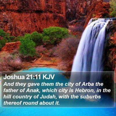 Joshua 21:11 KJV Bible Verse Image