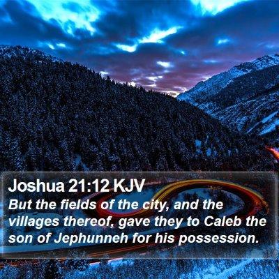 Joshua 21:12 KJV Bible Verse Image