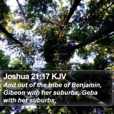 Joshua 21:17 KJV Bible Verse Image