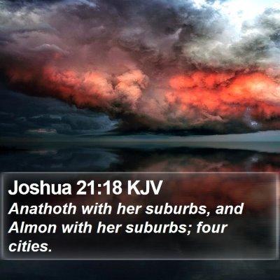 Joshua 21:18 KJV Bible Verse Image