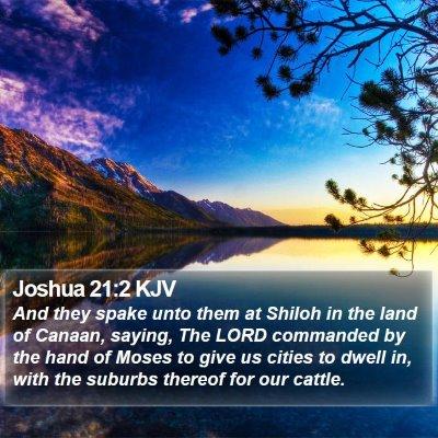 Joshua 21:2 KJV Bible Verse Image