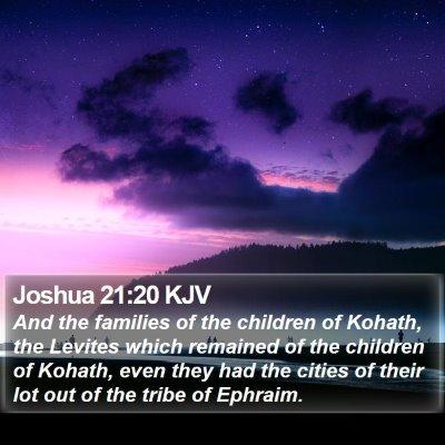Joshua 21:20 KJV Bible Verse Image