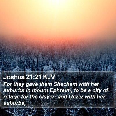 Joshua 21:21 KJV Bible Verse Image