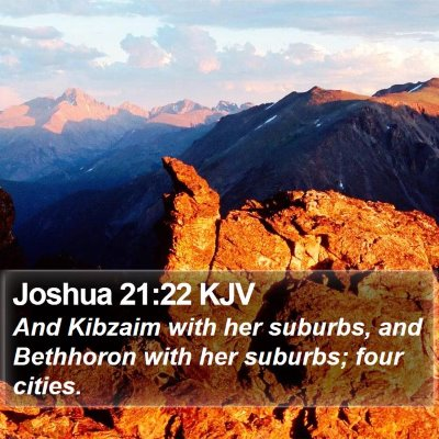 Joshua 21:22 KJV Bible Verse Image