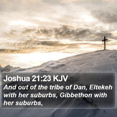 Joshua 21:23 KJV Bible Verse Image