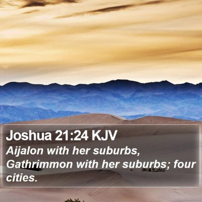 Joshua 21:24 KJV Bible Verse Image