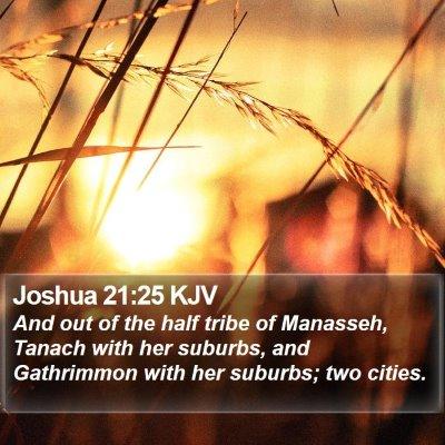 Joshua 21:25 KJV Bible Verse Image