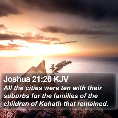 Joshua 21:26 KJV Bible Verse Image
