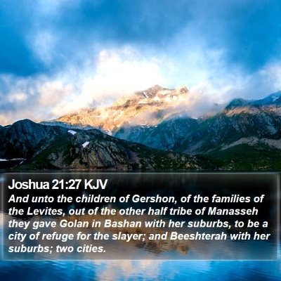 Joshua 21:27 KJV Bible Verse Image