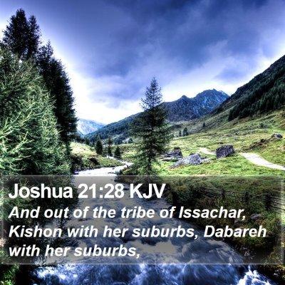 Joshua 21:28 KJV Bible Verse Image