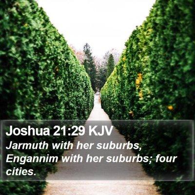 Joshua 21:29 KJV Bible Verse Image