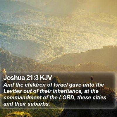 Joshua 21:3 KJV Bible Verse Image