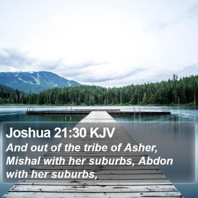 Joshua 21:30 KJV Bible Verse Image