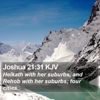 Joshua 21:31 KJV Bible Verse Image