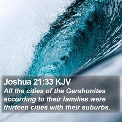 Joshua 21:33 KJV Bible Verse Image