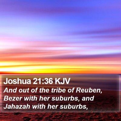 Joshua 21:36 KJV Bible Verse Image