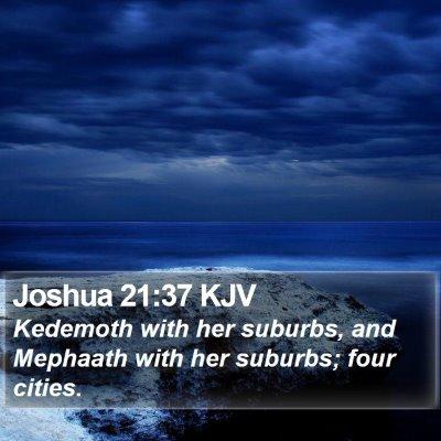 Joshua 21:37 KJV Bible Verse Image