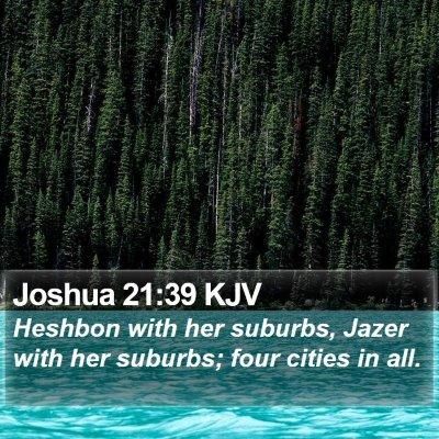 Joshua 21:39 KJV Bible Verse Image