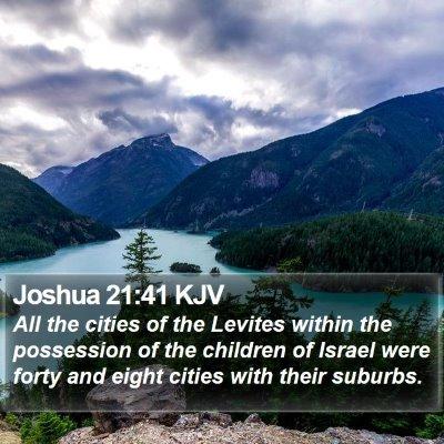 Joshua 21:41 KJV Bible Verse Image