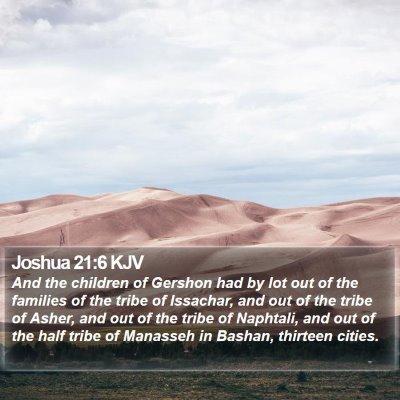 Joshua 21:6 KJV Bible Verse Image