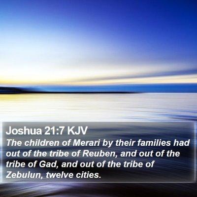 Joshua 21:7 KJV Bible Verse Image