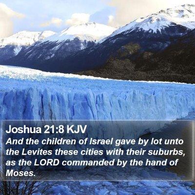 Joshua 21:8 KJV Bible Verse Image