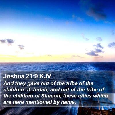 Joshua 21:9 KJV Bible Verse Image