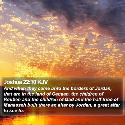 Joshua 22:10 KJV Bible Verse Image
