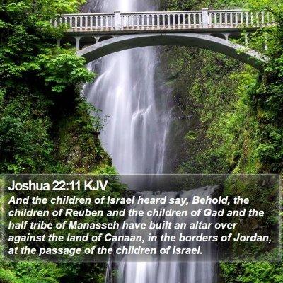 Joshua 22:11 KJV Bible Verse Image