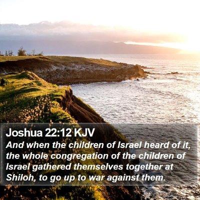 Joshua 22:12 KJV Bible Verse Image