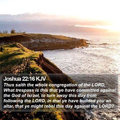 Joshua 22:16 KJV Bible Verse Image
