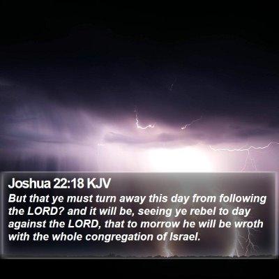 Joshua 22:18 KJV Bible Verse Image